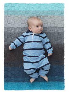 הוראות סריגה לשמיכת תינוק